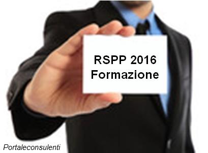 Contenuti minimi del percorsi formativi rspp