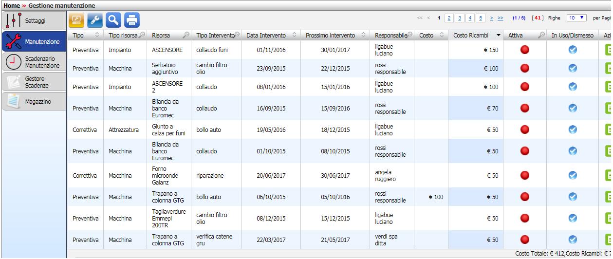 Registro manutenzione macchine sgsl web sicurweb hse for Calcola imposta di registro