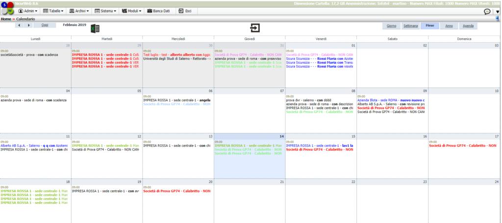Calendario RSSP