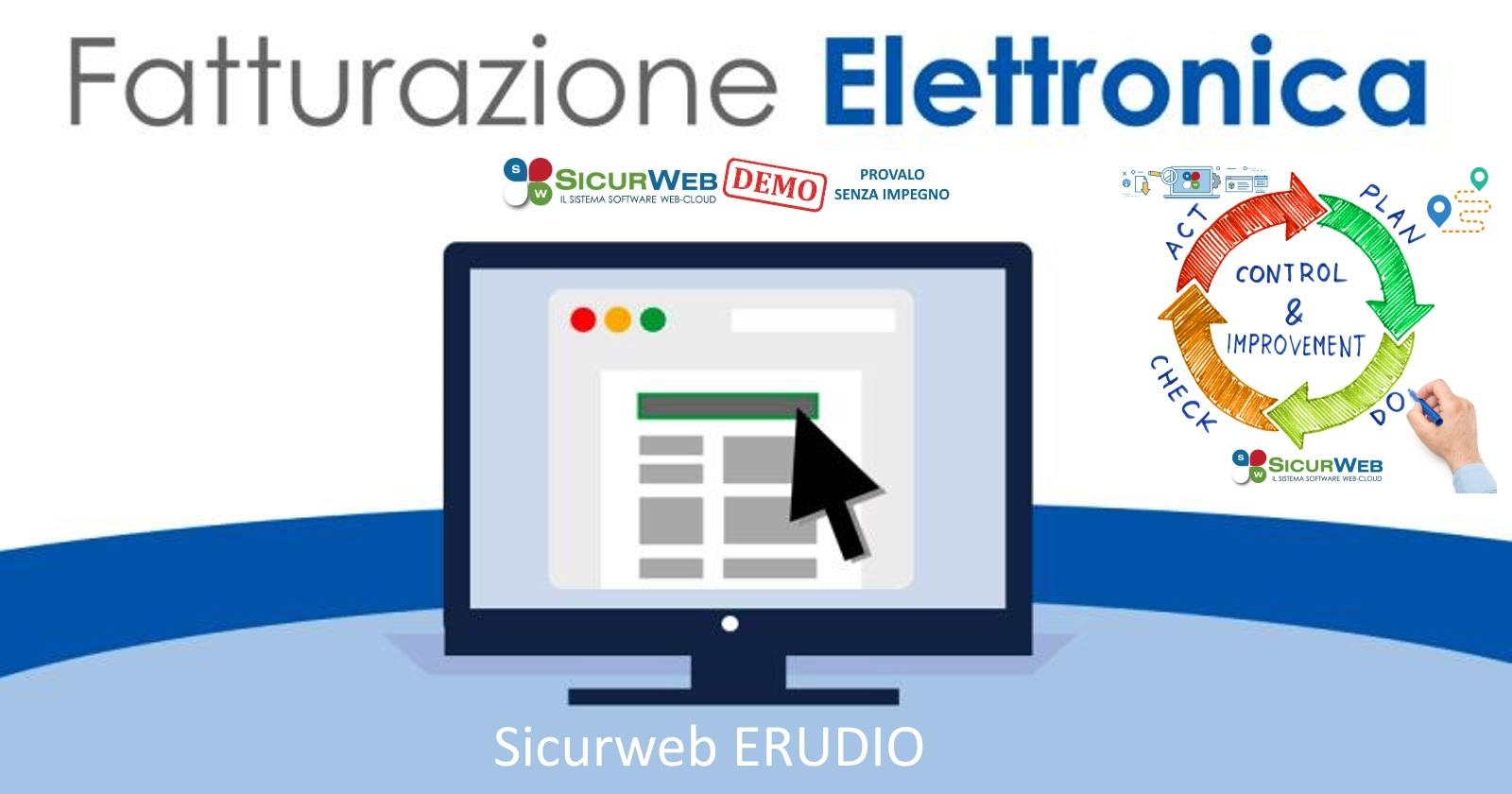 Nel catalogo corsi della piattaforma e-learning Sicurweb ERUDIO è possibile scarica il corso FAD di fatturazione elettronica