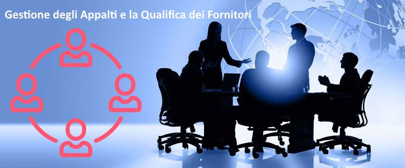 Il sistema software per la Gestione degli Appalti e la Qualifica dei Fornitori ti consente di: