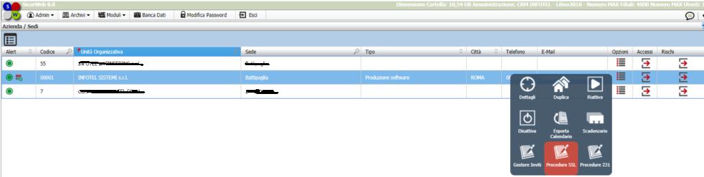 Procedure SSL e procedure 231