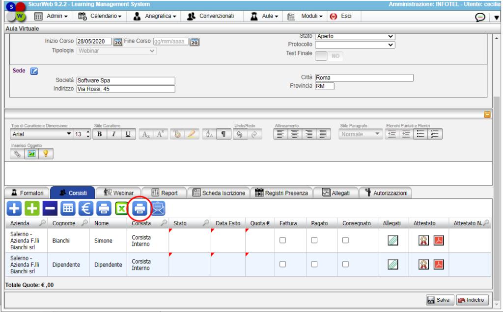 """Report consegnato, sia l'estrazione del Report in formato digitale """"PDF"""""""