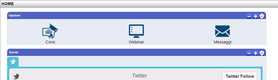 Si apre la schermata della piattaforma, cliccare sul comando WEBINAR/VIDEOCONFERENZA: